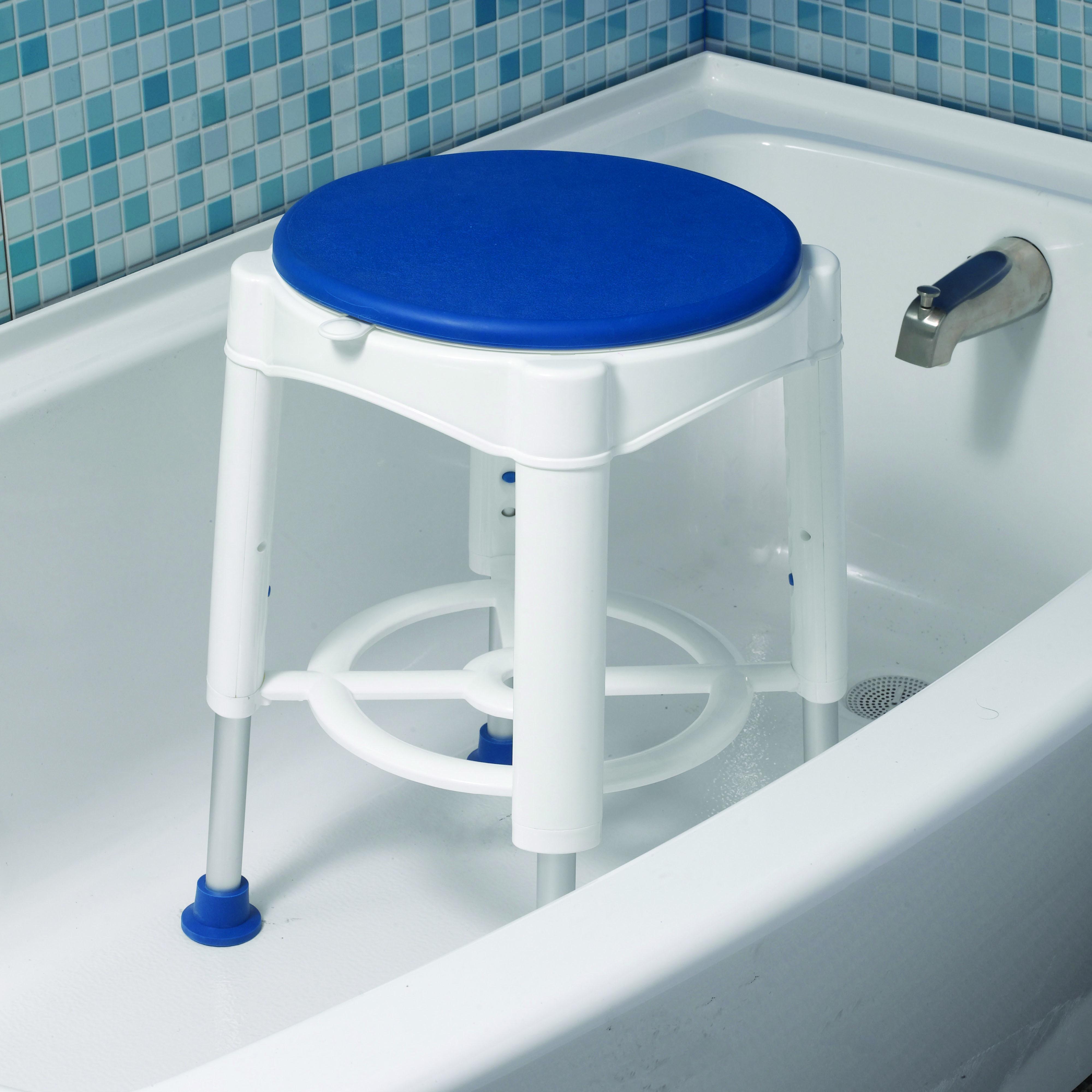 Bathroom Safety Swivel Seat Shower Stool – AMS